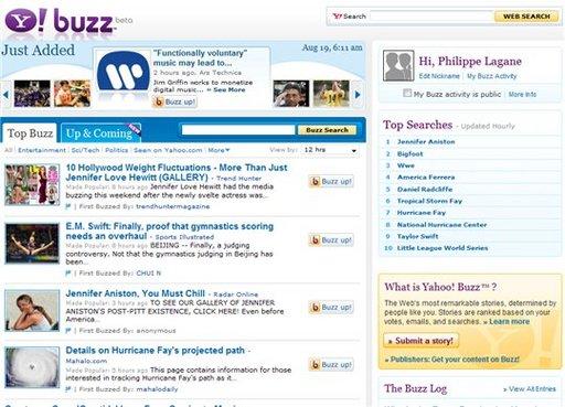 Yahoo! Buzz vient d'ouvrir au public - un concurrent pour Digg.com ?