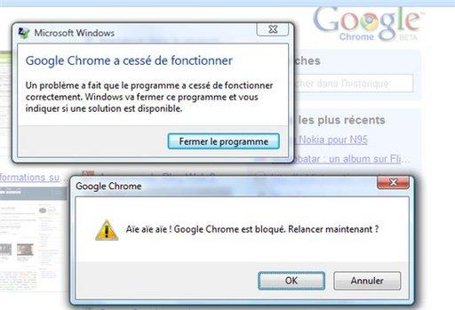Qui a dit que Google Chrome ne plantait pas ?