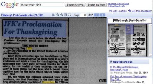 Google nous offre l'histoire en numérisant d'anciens journaux américains