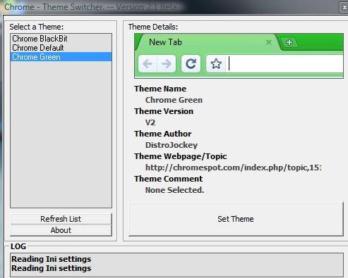 Changement automatique de thèmes sur Google Chrome