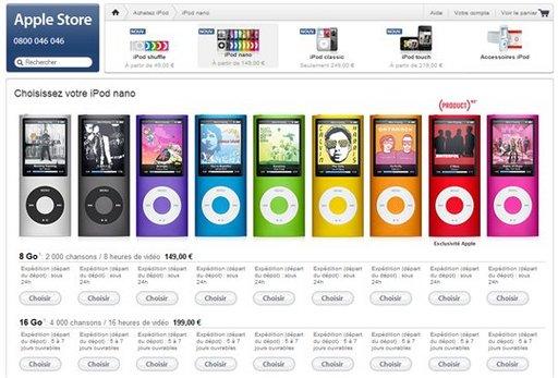 Apple.fr présente les nouveaux iPod Nano, les nouveaux iPod Touch et les nouveaux iPod Classic