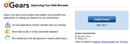 Google Gears est opérationnel sous Safari [special MAC]