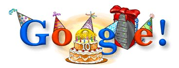 Google Inc fête ses 10 ans aujourd'hui