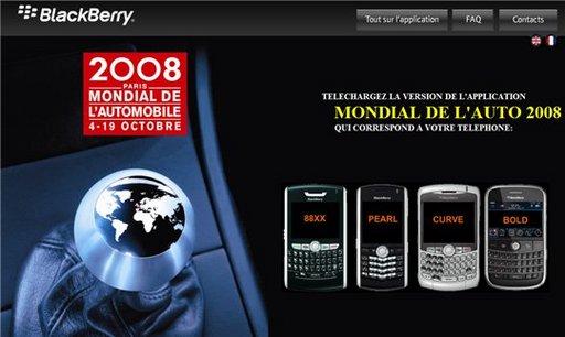 Blackberry et le Mondial de l'Auto
