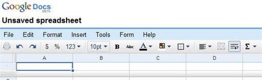 Changement de menu sur Google Tableur