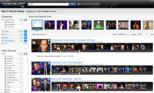 Videosurf - moteur de recherche de vidéos