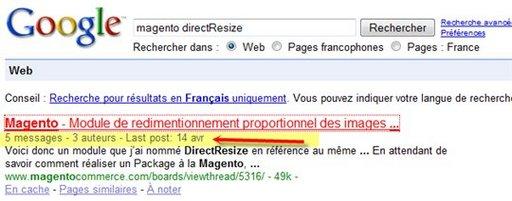 Google est vraiment très précis dans les résultats de recherche
