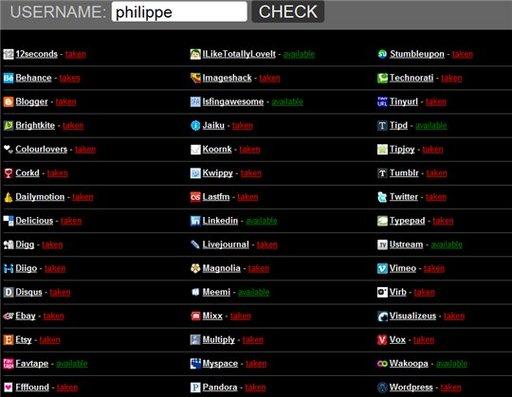 UserNameCheck - vérification de l'utilisation d'un pseudo