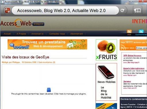 Firefox Mobile - premiers tests de la version ALPHA
