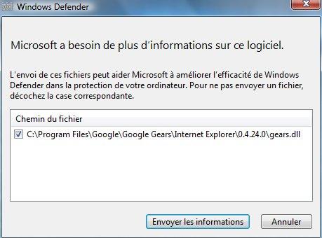 Microsoft n'aime pas Google Gears