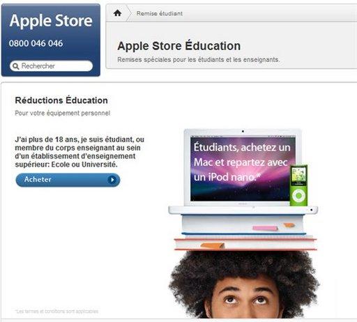 Apple Education offre 125 Euros de réduction mais ...