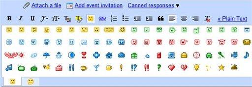 Gmail et les Smileys