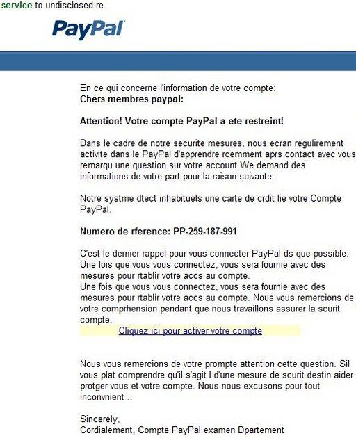 Le Spam avec Paypal doit rapporter gros, ça devient pénible