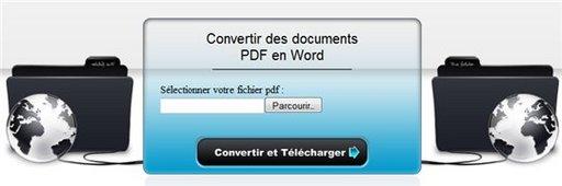 Convertir un PDF en document WORD