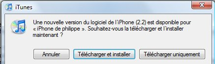 Firmware 2.2 pour l'iPhone