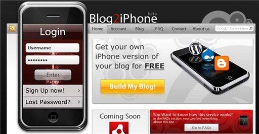 Blog2iPhone - votre blog en version iPhone en quelques secondes