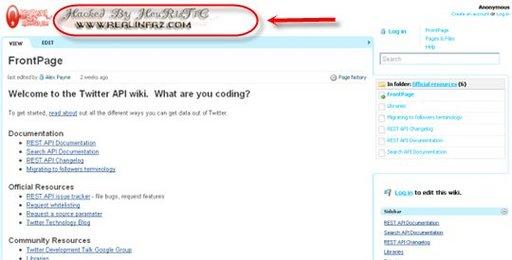 Le Wiki de Twitter a été piraté
