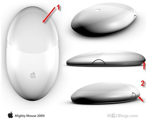 Multi-touch Mighty Mouse - une souris en aluminium chez Apple en 2009 ?