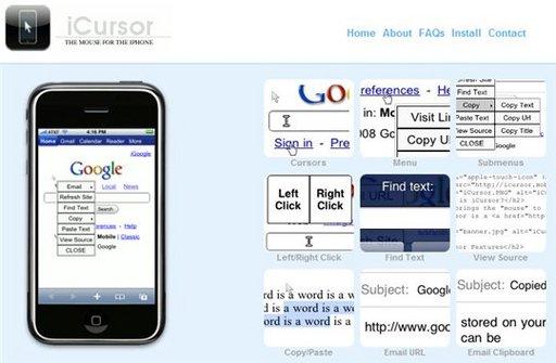 Du copier coller sur l'iPhone avec la souris de iCursor