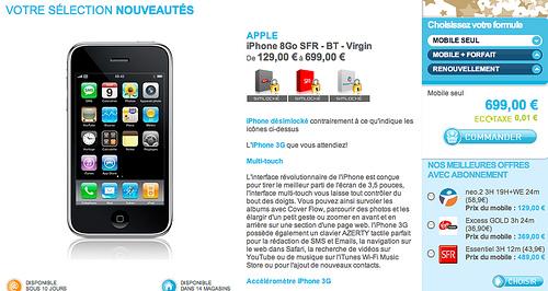 iPhone Bouygues Télécom, SFR, Orange et Virgin chez The Phone House aujourd'hui