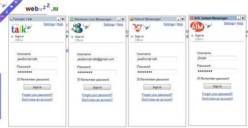 Webuzz.im - client messenger multi protocoles en ligne
