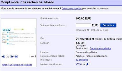 Moteur de recherche à vendre sur eBay