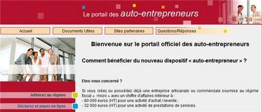 Auto-entrepreneur - 40 000 inscrits en moins de 5 jours