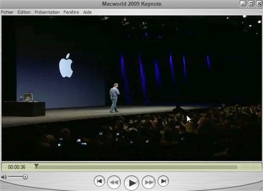 La vidéo de la keynote 2009 en direct du MacWorld