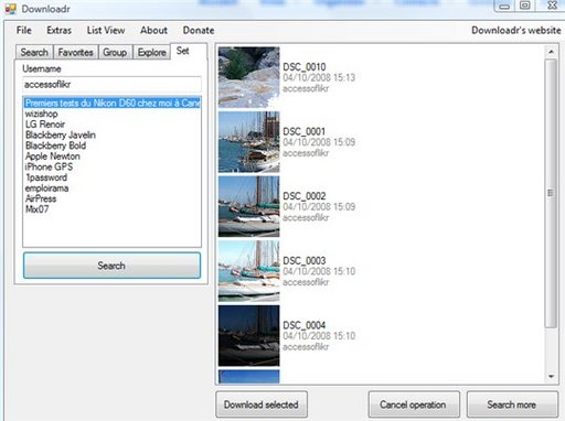 Downloadr - Backup de votre compte Flickr