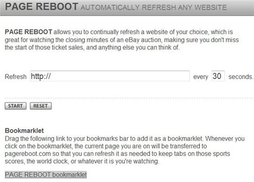 Page Reboot - La touche F5 automatique