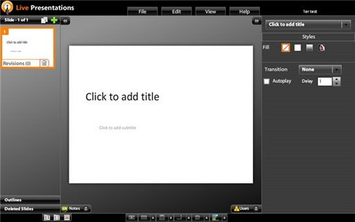 Live Documents - Une application de type Power Point On et Off line