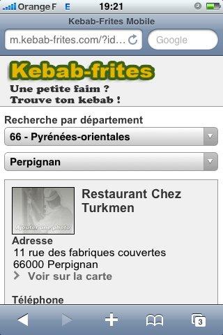Kebab-Frites maintenant sur iPhone et mobiles en général