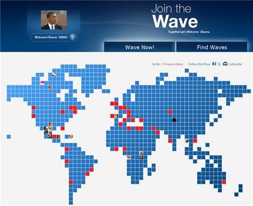 Barack Obama - Investiture en direct le 20 janvier et le soutien de la population mondiale