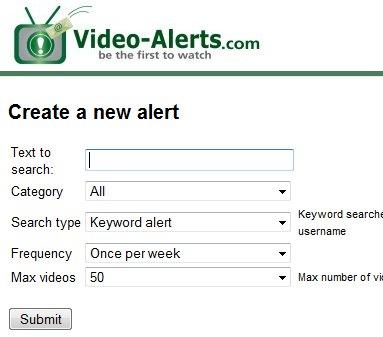 Video-Alerts - Alerte par mail de nouvelles vidéos dans Youtube