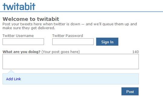 Twitabit - Quand Twitter est down, continuez à poster vos messages