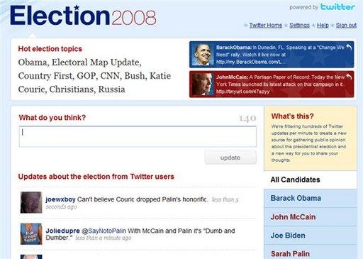 Twitter et l'élection présidentielle Américaine