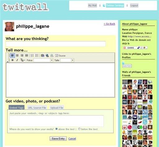 TwitWall - Ce que Twitter ne fait pas, lui il le fait