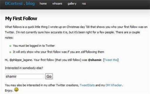 Qui a été votre premier ami sur Twitter ?