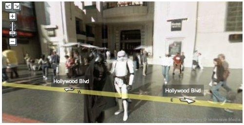 Star Wars dans Google Street View et une Ami 8 version Girafe