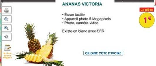 Après l'Orange, l'Apple, SFR propose l'Ananas à écran tactile chez Auchan
