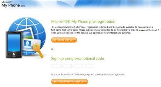 Microsoft My Phone - Enregistrement à la Beta ouvert au public