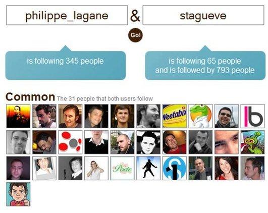 Twtrfrnd - Comparez vos Followers sur Twitter