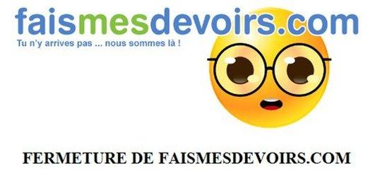 FaisMesDevoirs - Fermeture définitive du site