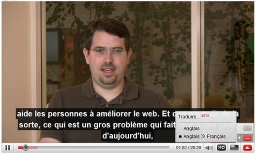 Traduction des sous titrages dans Youtube maintenant possible