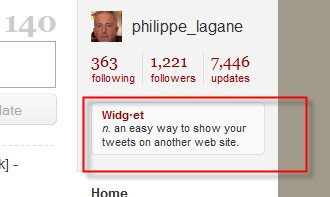 Twitter fait sa propre pub ... en attendant ...