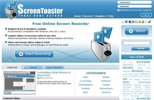 Screen Toaster - Youtube en HD, fomat mov et API dès demain