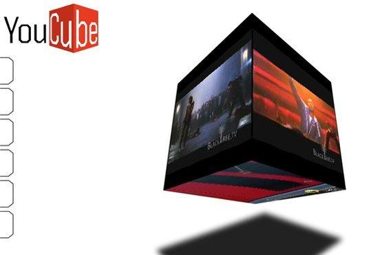 YouCube - Des vidéos Youtube sur un cube en 3D