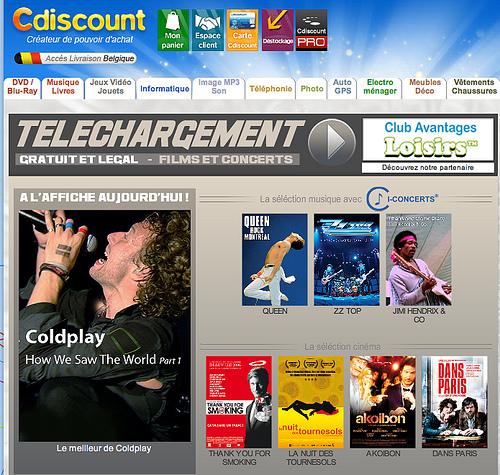 CDiscount offre des téléchargements gratuits de concerts en VOD