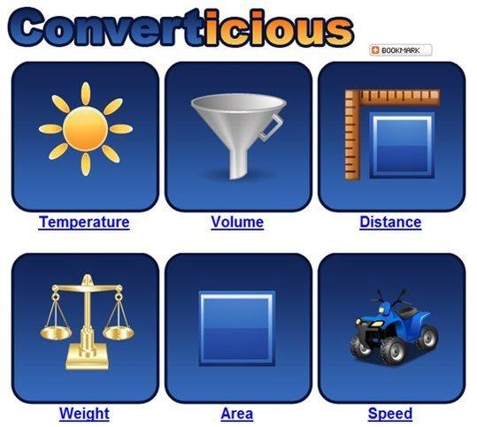 Converticious - Conversions de mesures en ligne
