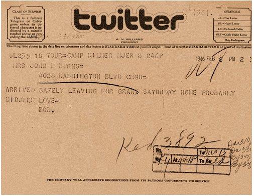 Twitter en 1946 c'était comme ça